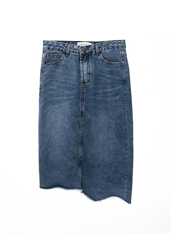 CV Jeans dáng A gấu lượn tua rua