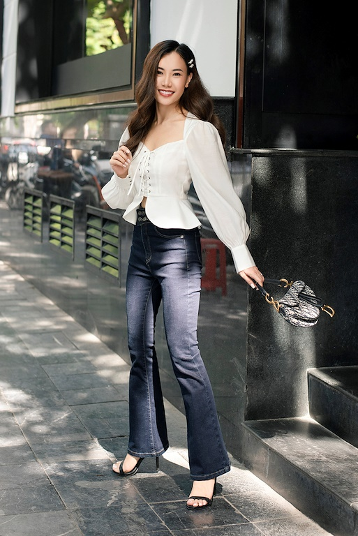 Quần Jeans ống vảy 4 khuy