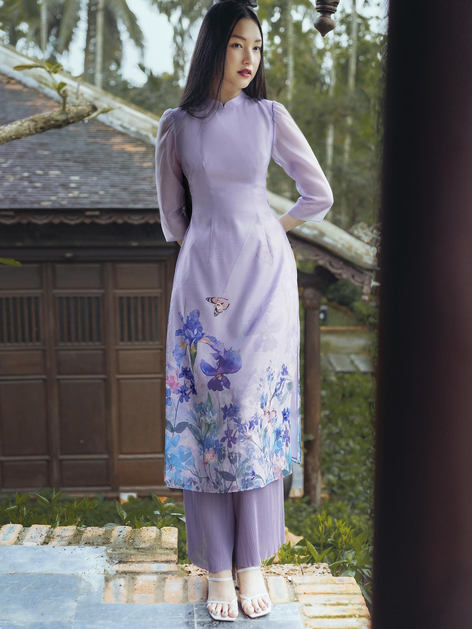 Quần áo dài ly tăm cạp chun