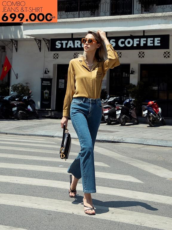 Quần jeans ống vẩy Basic (Giảm 147k mua cùng áo phông)