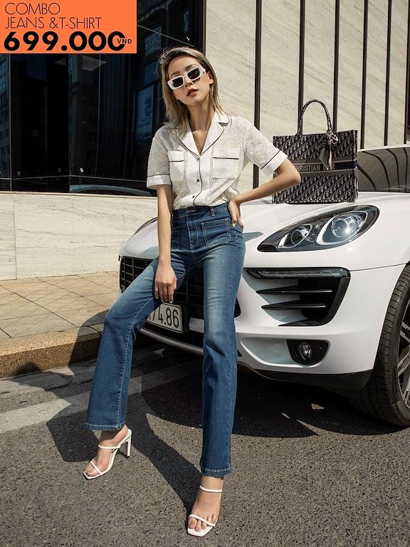 Quần jeans ống vẩy túi ốp (Giảm 147k mua cùng áo phông)
