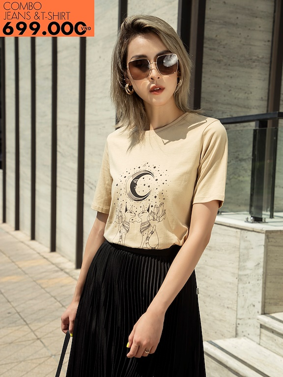 Áo phông in The Moon (Giảm 147k mua cùng quần Jeans)